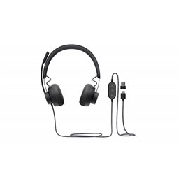 Logitech Zone Wired Teams - Headset - Head-band - Calls & Music - Black - Binaural - Button 981-0008 Headsets | buy2say.com Logi